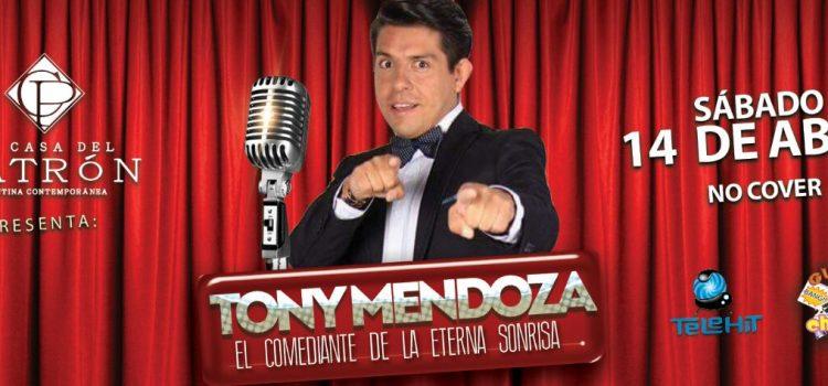 Tony Mendoza con divertido show en Puebla como en T.V.