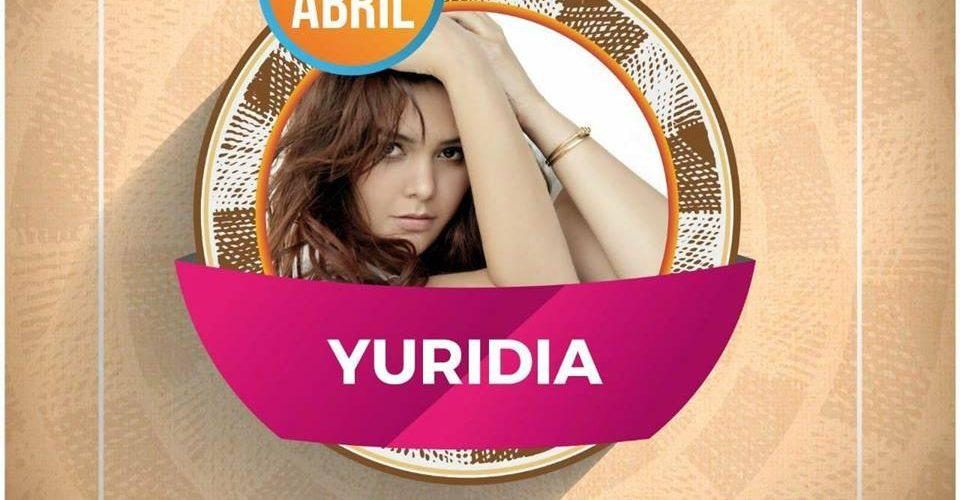 Yuridia este sábado en Palenque de PUEBLA