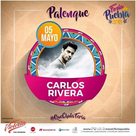 CARLOS RIVERA LLEGA AL PALENQUE DE PUEBLA