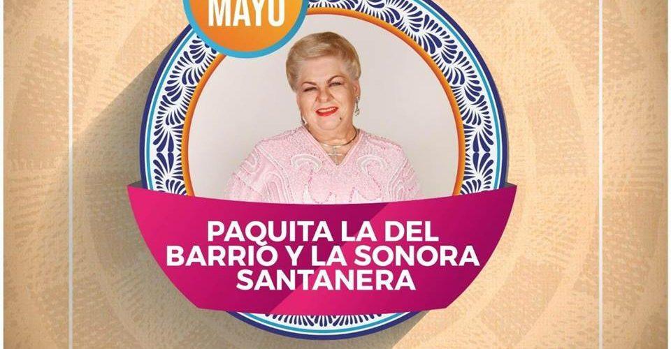 PAQUITA LA DEL BARRIO CANTARÁ A MAMÁS POBLANAS