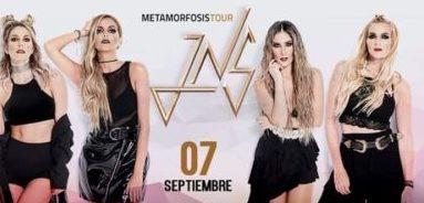 """-JNS presentará el sábado 7 de septiembre su """"Metamorfosis Tour"""" en Acrópolis Centro de Espectáculos, a las 21:00 horas."""