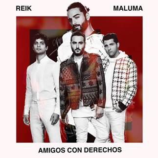 """-""""Amigos con derechos"""": nuevo sencillo de """"Reik"""", en el que hacen dueto con Maluma:El video oficial de la canción fue filmado en Las Vegas y en Miami."""