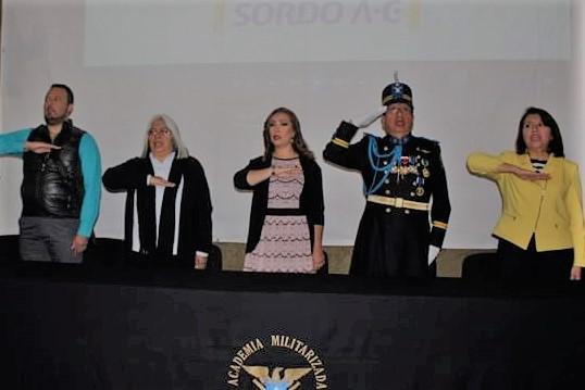 Escuela Militarizada Ignacio Zaragoza, conmemora el Día Internacional del sordo