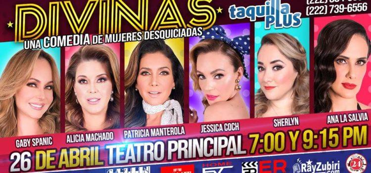 """Obra teatral """"Divinas"""" llegará al Teatro Principal el viernes 26 de abril"""