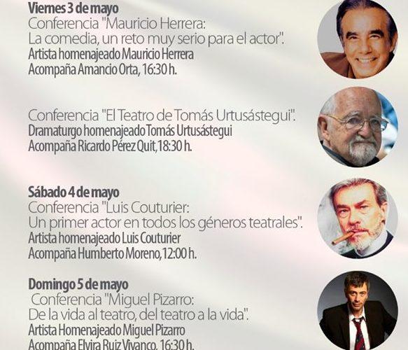 """Del viernes 3 al domingo 5 de mayo se realizará el """"Encuentro con Iconos del Teatro"""