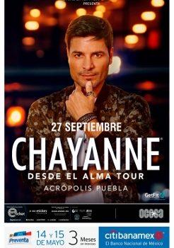 """Hoy  inicia la preventa para CHAYANNE """"Desde el Alma Tour"""""""