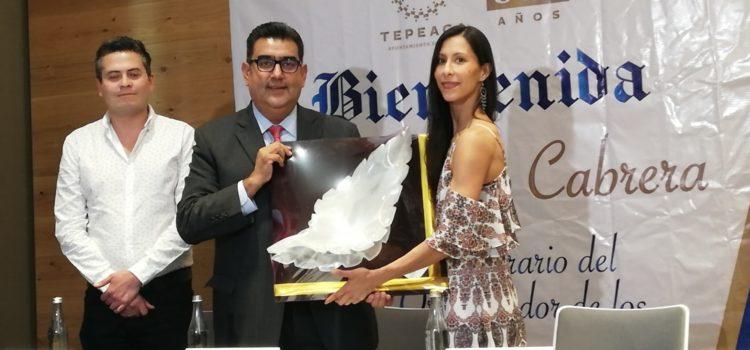 Elisa Carrillo es nombrada miembro  Honorario del comité organizador de los 500 años de la fundación de Tepeaca