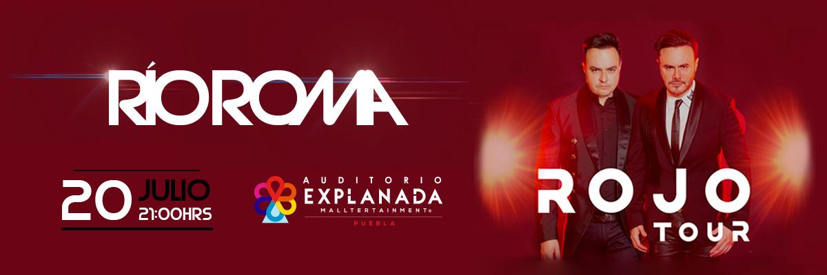 """""""Río Roma"""" presentará en el majestuoso escenario del Auditorio Explanada su """"Rojo Tour""""."""
