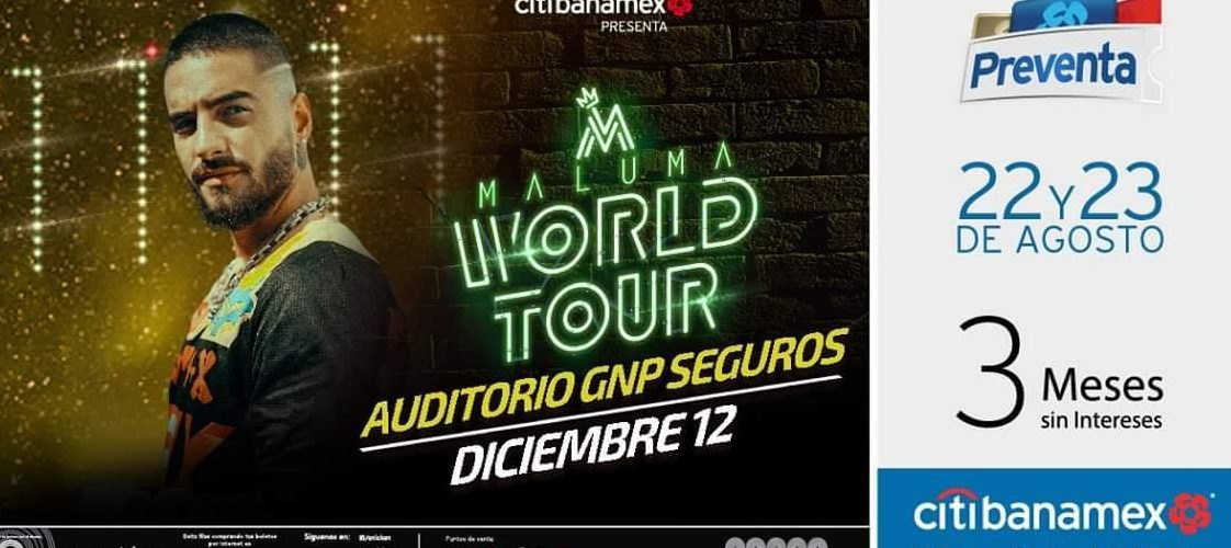 Maluma y su Word Tour visitarán Puebla