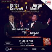Este 31 de julio, Carlos Cuevas y Jorge Muñiz darán un apapacho  al corazón