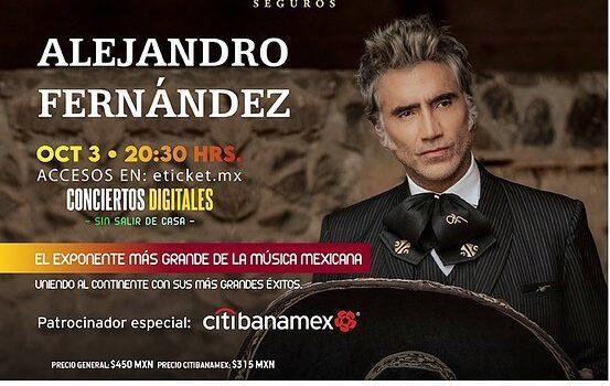 ALEJANDRO FERNÁNDEZ el máximo exponente de la música mexicana presentará el espectáculo AMÉRICA A UNA SOLA VOZ bajo el concepto IRREPETIBLE