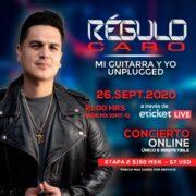 REGULO CARO Y SU PRIMER CONCIERTO ONLINE