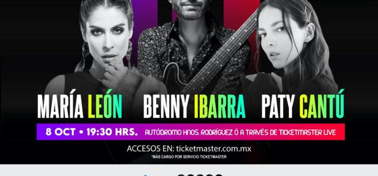 """""""Una noche de pop inolvidable""""   Benny Ibarra, Paty Cantú y María León"""