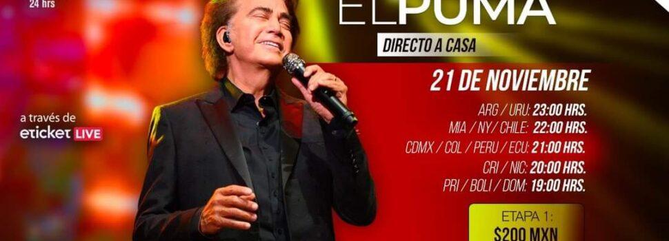 """José Luis Rodríguez """"El Puma"""" se adapta a las nuevas tecnologías y presenta su primer concierto online"""