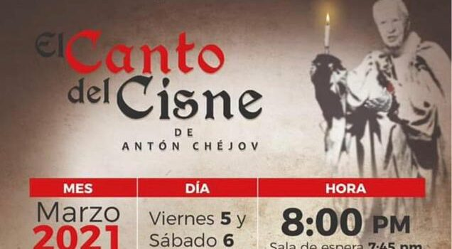 """EL PRIMER ACTOR IGNACIO LÓPEZ TARSO PRESENTARÁ LA LECTURA DRAMATIZADA DE """"EL CANTO DEL CISNE"""" DE ANTON CHEJOV."""