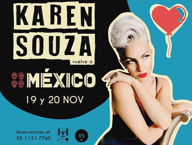 """""""KAREN SOUZA""""  prepara show exclusivo en el Zinco Jazz Club"""