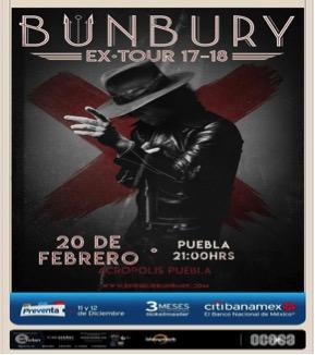 ENRIQUE BUNBURY LLEGA APUEBLA CON MÁS EXPECTATIVAS