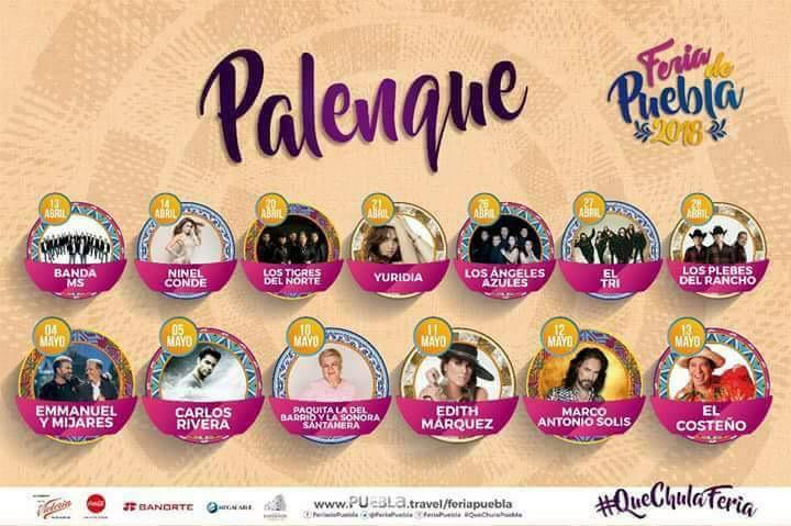 Banda MS, encargados de inaugurar Palenque en Feria de Puebla