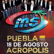 Con Todas las  Fuerzas, llega la Banda Ms, a Acrópolis Puebla