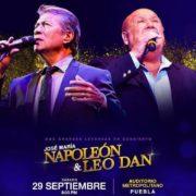 Dos  leyendas dela balada por fin en Puebla: Leo Dan y Napoleón