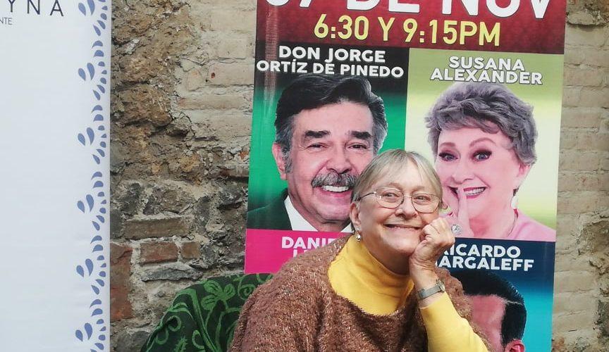 Dos grandes de la actuación en un mismo escenario: Susana Alexander y Jorge Ortíz de Pinedo
