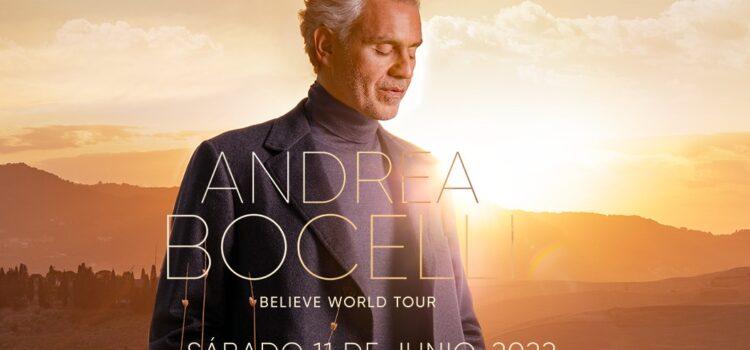 """EL TENOR MÁS QUERIDO DEL MUNDO ANDREA BOCELLI LLEGA A MÉXICO EN EL MARCO DE SU GIRA """"BELIEVE WORLD TOUR"""""""